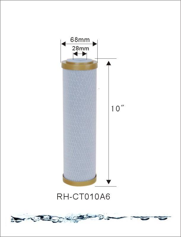 High quality activated carbon block filter cartridge CTO