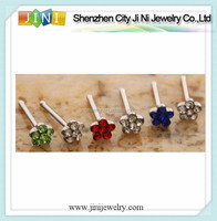 2012 fashion flower stainless steel nose studs in body jewelry