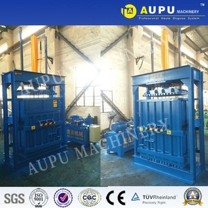 Waste Plastic Bottle Recycling Vertical Hydraulic Baler Machine