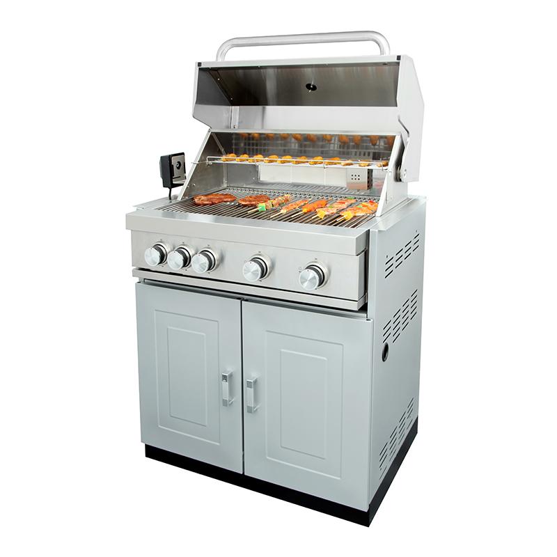 Ilha de cozinha churrasco ao ar livre de aço inoxidável completa com forno de pizza/geladeira/bbq grill