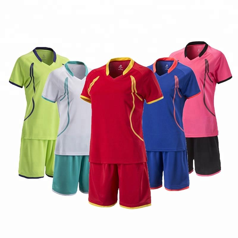 af05191775a76 Cheap uniformes de futbol soccer customized women football jerseys with  collar