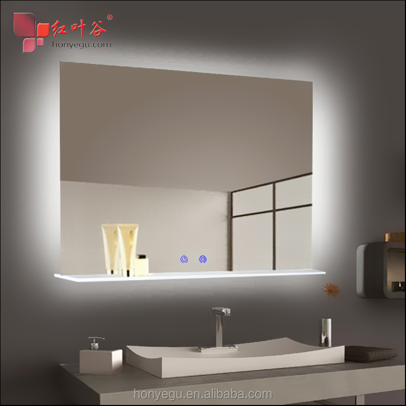 Far Infrared Mirror Panel <strong>Heater</strong> LED Electric Infrared Heating Panel With Touch Switches in Bathroom