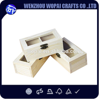 luxury new style handmade feature natural wood color essential oil small piece saving box difference grids