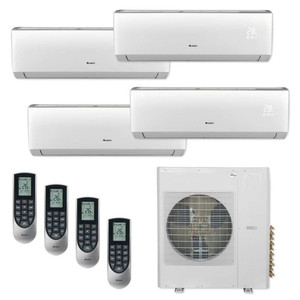 36000 BTU Multi 21SEER Quad 4 Zone Wall Mount Mini Split Air Conditioner