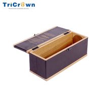 High quality wooden champagne emboss engrave perfume/wine packing box