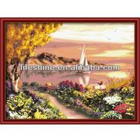 2013 Digital impressionist landscape scenery oil painting by number kits for wall decoration and gift