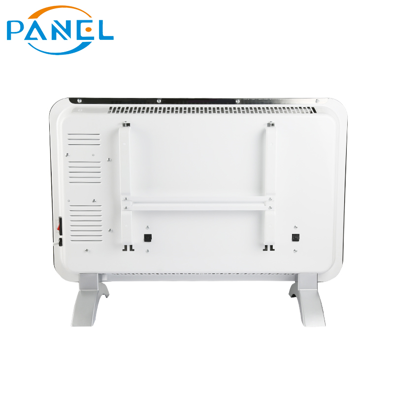 LED display heater stand or wall infrared glass panel heater with wifi control