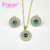 페르시 모조 Diamond Necklace Sets 금 Plated Jewelry Sets Earring Sets 대 한 Women