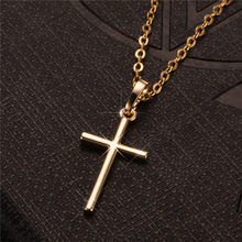 Модные женские подвески крест Прямая поставка золото черный цвет нержавеющая сталь Иисус крест кулон ожерелье ювелирные изделия для мужчи...(Китай)