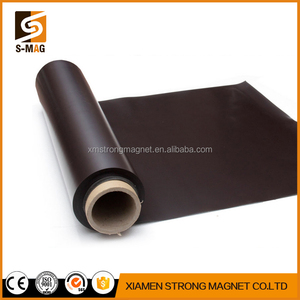 A4 size 0.5mm thick self adhesive flexible glossy rubber magnet sheet soft magnetic sheeting