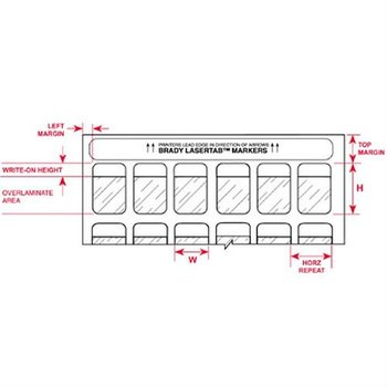 Brady Lat-35-361-2.5,29689 Laser Printable Labels