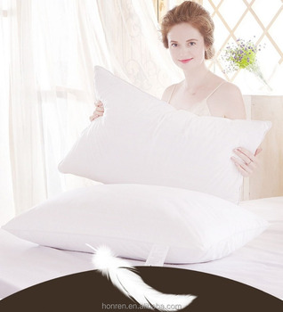 Luxury white goose feather pillow insert with RDS Certified - Hypoallergenic -