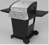 Freestanding Stainless Steel LP Gas 2 Burners BBQ Barbecue Grill for Outdoor Cooking Appliance