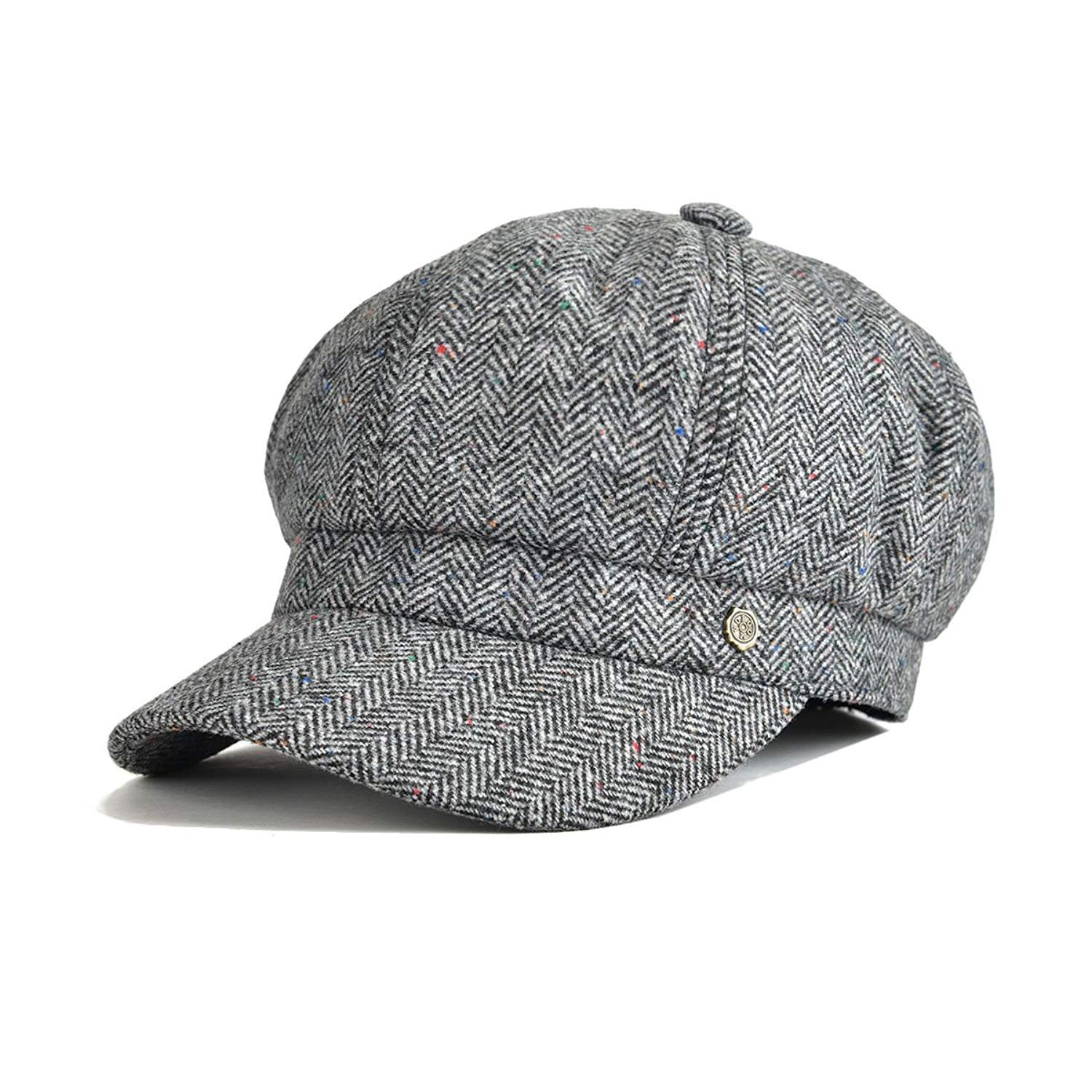 597fbe051a7 Get Quotations · VOBOOM 8 Panel Wool Tweed Newsboy Gatsby Ivy Cap Golf  Cabbie Driving Hat Herringbone