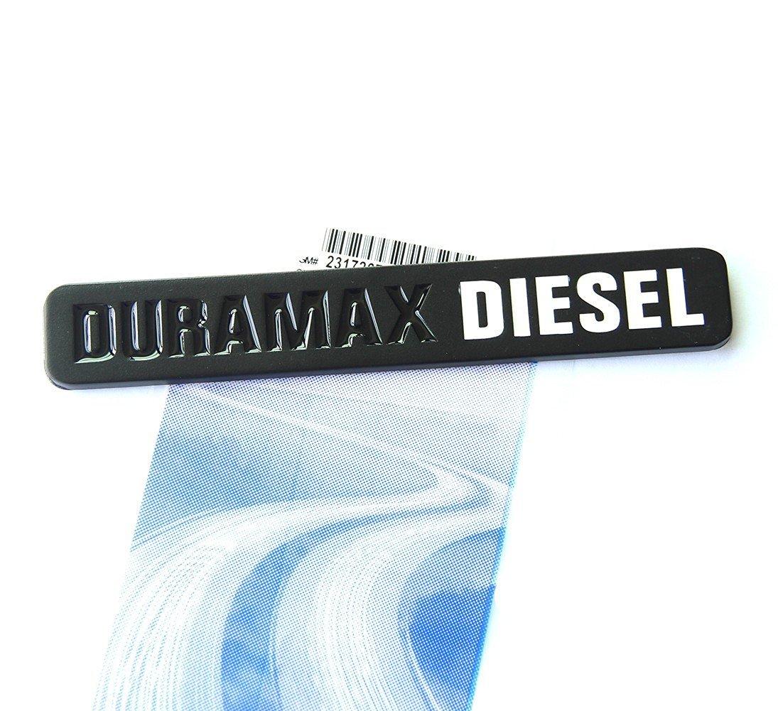 Yoaoo® 1x OEM Black Duramax Diesel Allison Truck Emblem Badge SILVERADO 2500 3500 HD GMC SIERRA Matte Black White