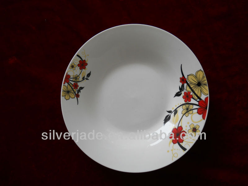crockery fine porcelain soup plate restaurant used