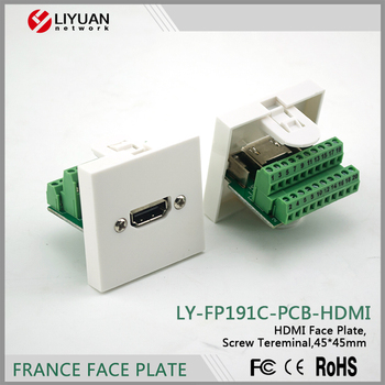 LY-FP191C-PCB-HDMI Single port screw connection PCB HDM face plate