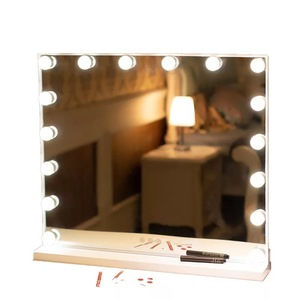 Desktop Large HD Vanity Mirror Light Home Wedding Hollywood Led Makeup Mirror With Led Night Bulb Light