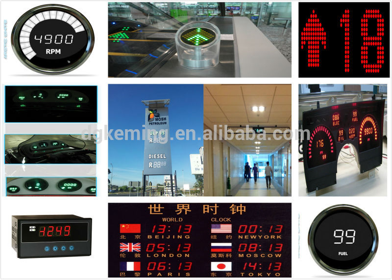 Electronics square dot  matrix 11x7 and 5x7 elevator led matrix display