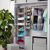 Folding hanging storage bag polyester fabric closet clothes organizers sets