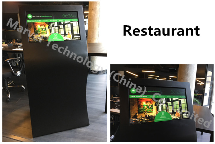 Windows SSD 128GB IR touch 4 points LCD TV screen kiosk for restaurant