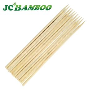Natural eco-friendly Disposable Gun Shaped Grilled Wood Barbecue Big Round Bamboo Craft Sticks