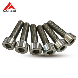 Gr5 DIN 912 Hexagon socket set screws with cone point/titanium tapered head bolts for bicycle and motorcycles
