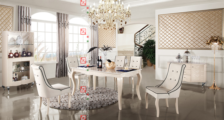 Dining Room Furniture / Antique French Provincial Dining Room Furniture /  Dining Set LV A808