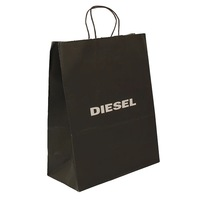 China high end accept custom personalized low price private logo black luxury paper bag