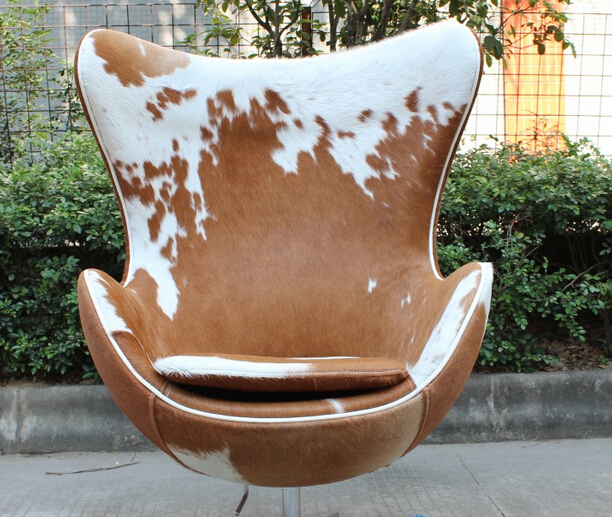 Modern Furniture Wool Fabric Egg Lounge Chair Replica Pony Skin Arne  Jacobsen Egg Chair Genuine Leather