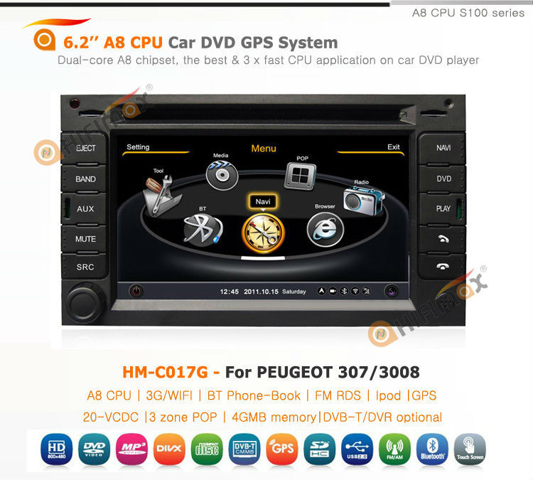 hifimax peugeot 5008 3008 gps navigation navigator for peugeot 3008 with peugeot 3008 car. Black Bedroom Furniture Sets. Home Design Ideas