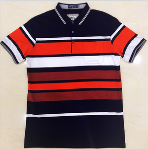 Fashion Bangladesh style stripes men polo shirt
