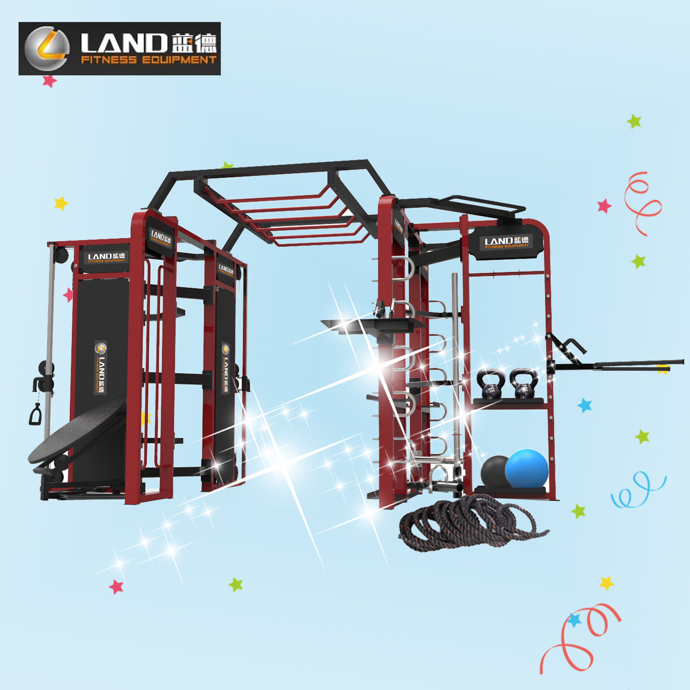 Club Gym Equipment-synergy 360 Ldm-09 Land Fitness Multi ...