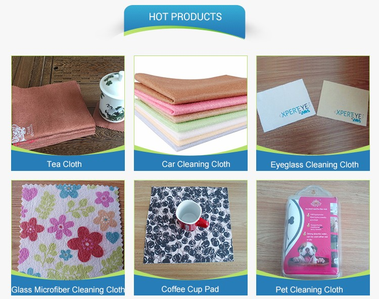 Auto microfiber cleaning cloth nonwoven fabrics chamois leather