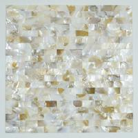 Natural mother of pearl seashell mosaic tile designs bathroom wall decoration