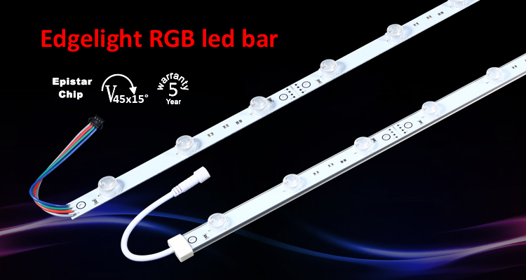 High power waterproof smd 3030 led edge-lit rgb led strip bar for light box poster