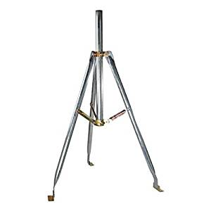 "3' FT Tripod Mount Satellite Antenna with 2"" Inch OD Mast 28 Inch Mast 1.66 and 2 Inch O.D. Dish 3' Tri-Pod 2"" Mast TV Off-Air Outdoor Signal Support BracketSpecifications"