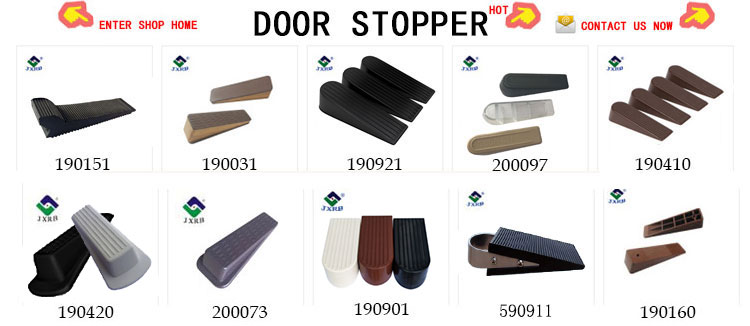 Wholesale kids protector rubber cover wedge heavy duty wooden door stopper
