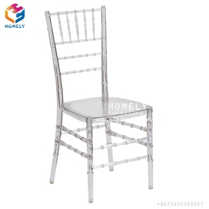 Cheap Sale Hotel Silla Acrylic Resin Clear Wedding Party Event Crystal Tiffany Chiavari Chair