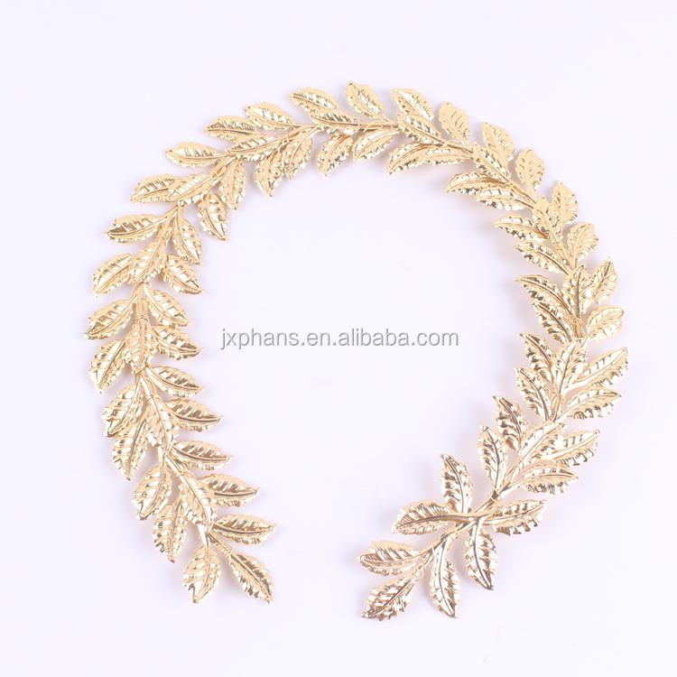 Roman Gold Foil Leaf Wreath Laurel Accessory