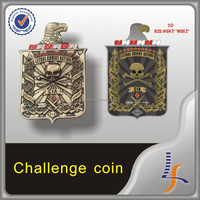 wholesale factory popular metal plated custom military coin