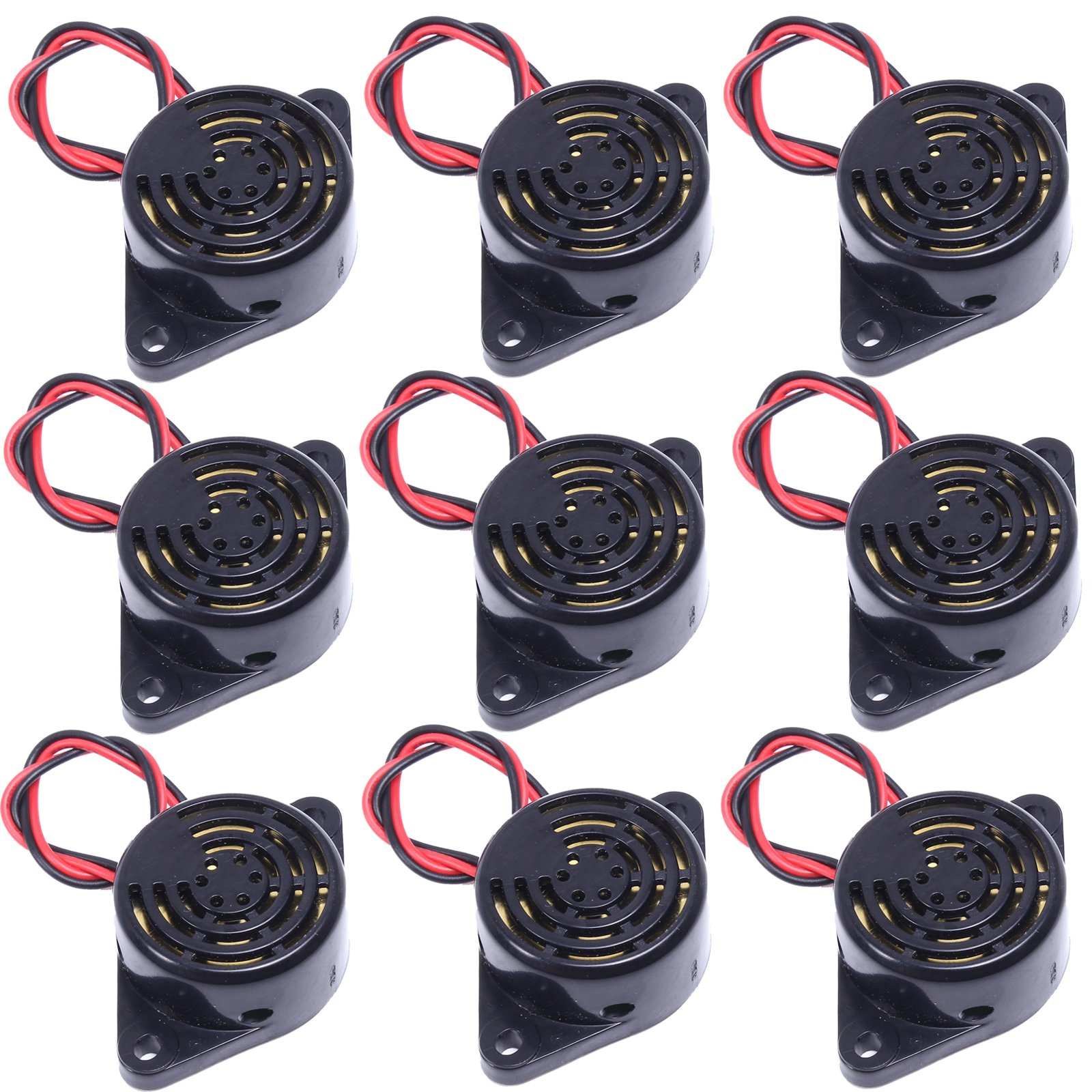 Buy 2 X Piezo Electronic Tone Buzzer Alarm 3 24v 12vdc With Mounting 12v Waterproof Electric Sounder Icstation Dc 85db Active Beep Ringer Continous Sound Pack
