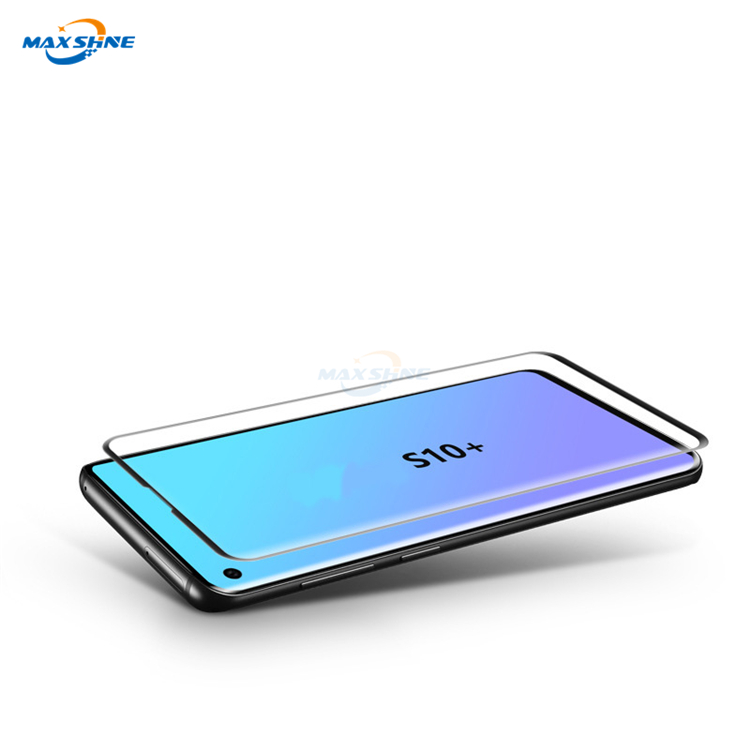 Maxshine For Samsung S10 S10E S10 Plus Thin Screen Protector 3D Full Coverage Tempered Glass Case Friendly