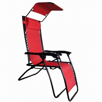 Portable Folding Beach Chair With Sun Canopy Recliner Chair With Canopy