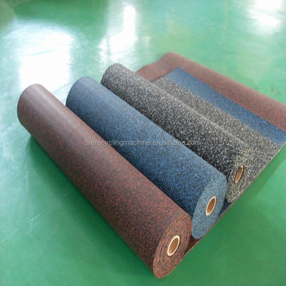Crossfit / Gym / Fitness room rolled flooring matting rubber floor price