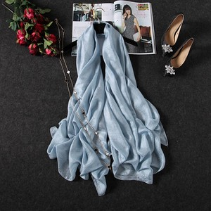 2018 Hot Selling Wholesale Customized Polyester Plain Fans Silk Scarf