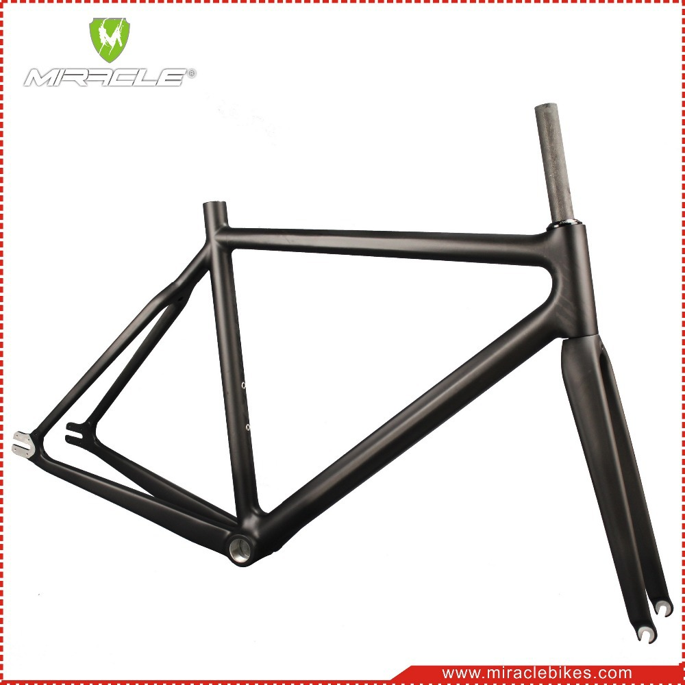 31ba306d4ae Miracle Hot Sale 700C Single Speed Carbon Fixed Gear Frame, Track Bike  Carbon Bike Frame Work 47/52/56cm