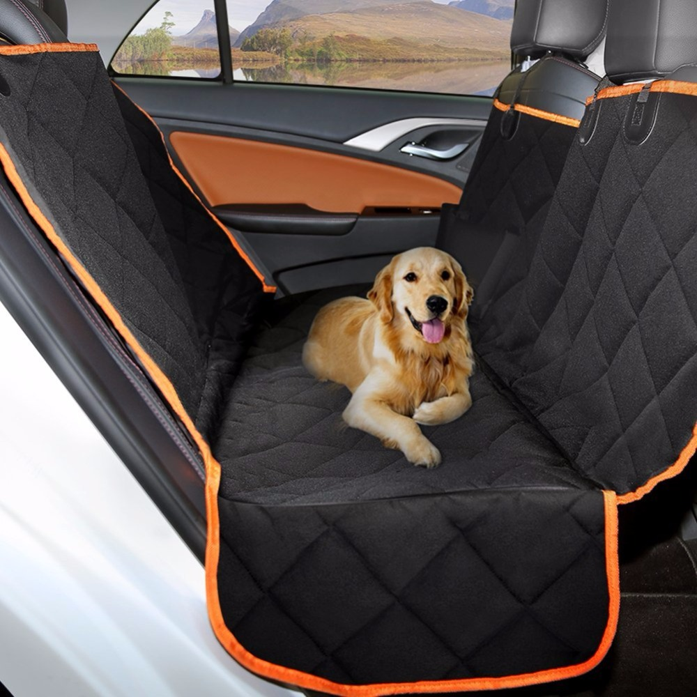 Heavy Duty กันน้ำป้องกันรอยขีดข่วน Nonslip Backing Pet Dog Car Seat Cover