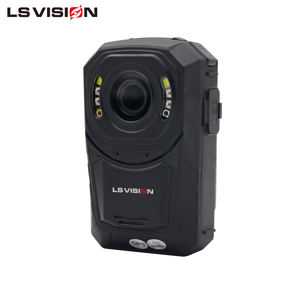 LS VISION Security Guard Police Officers Wearing IR GPS Body Cameras