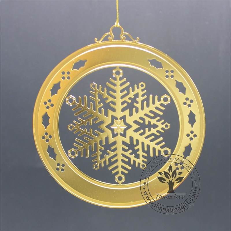 New Idea Custom Metal Christmas Snowflake Ornaments for Xmas Day